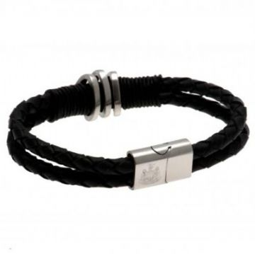 Newcastle United Leather Bracelet
